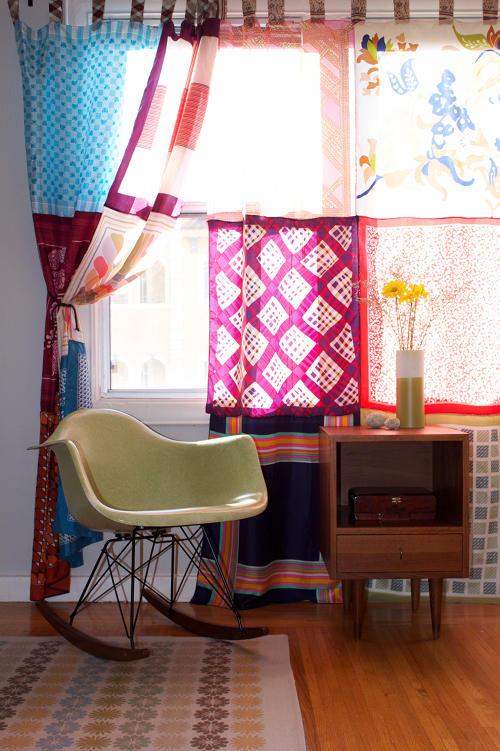 DIY Patchwork Curtains
