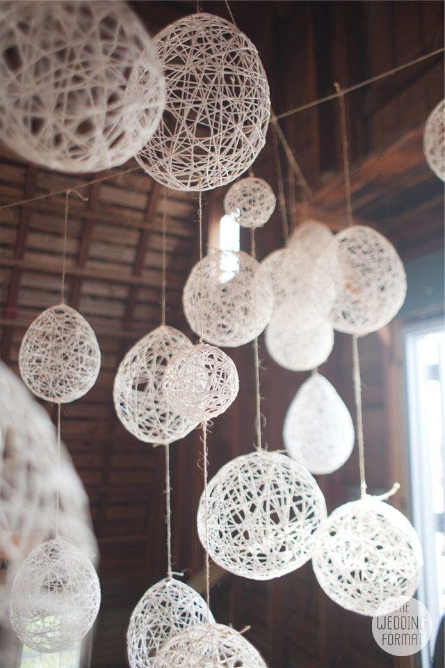 Hanging Yarn Lanterns