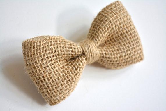 Burlap Bow Tie