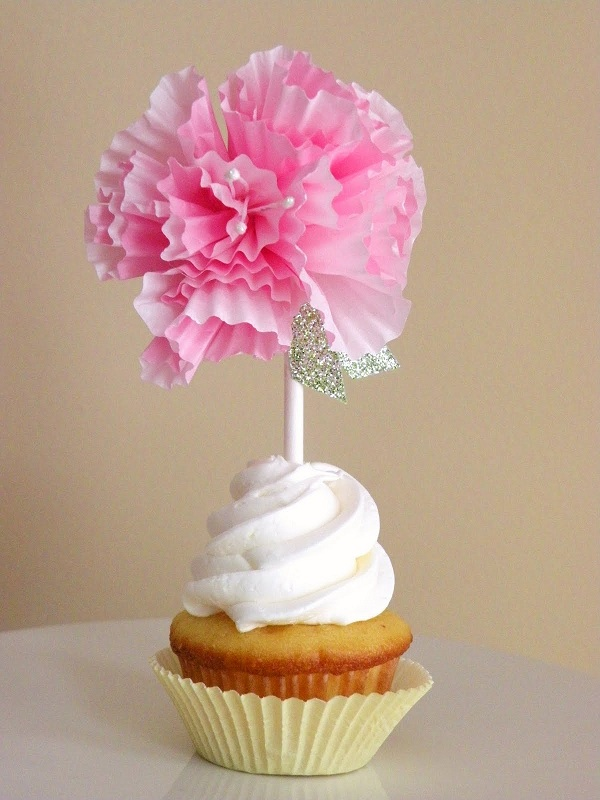 Cupcake Liner Flowers Gorgeous