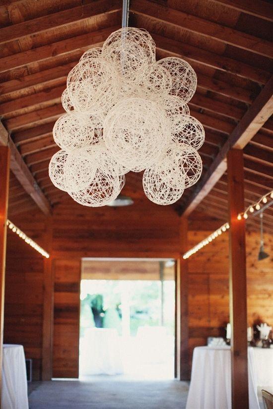Homemade Yarn Lanterns