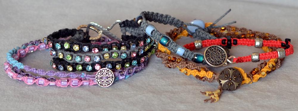 Multicolored Hemp Cord Bracelets