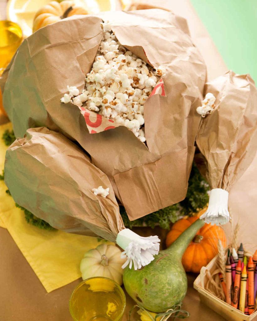 Paper Bag Turkey Centerpiece