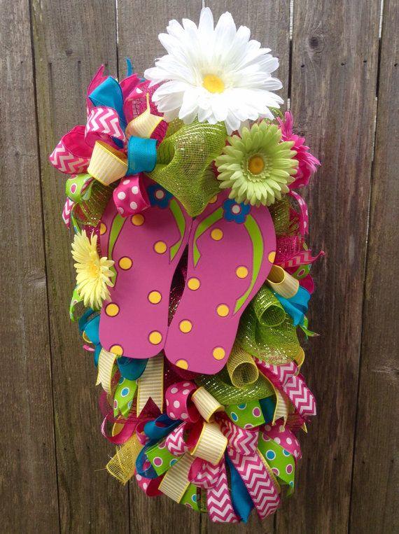 Summer Flip Flop Wreath