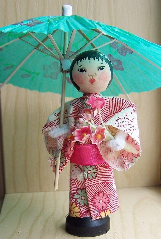 Asian Clothespin Dolls