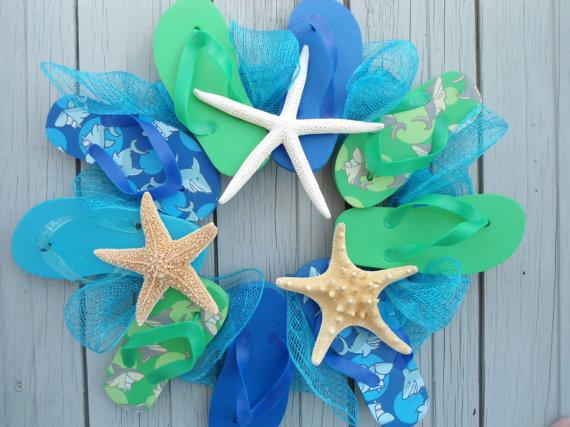 Beach Flip Flop Wreath