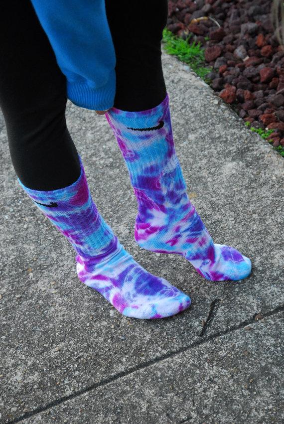 Blue Tie Dye Sock