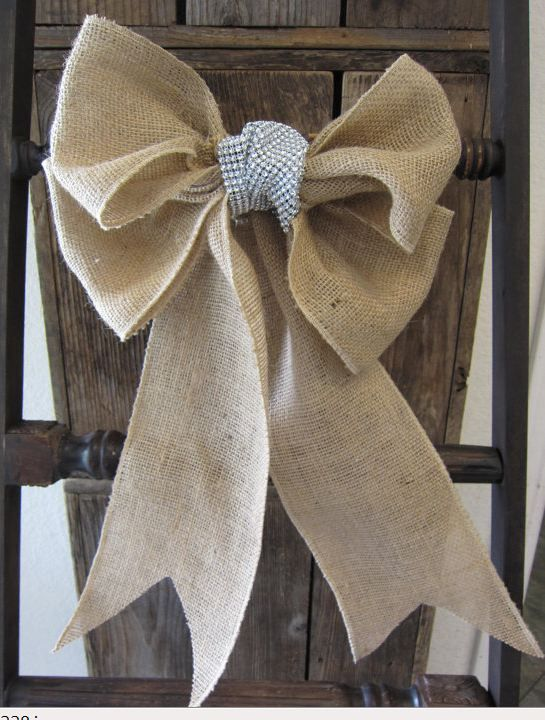 Burlap Bow for Chairs
