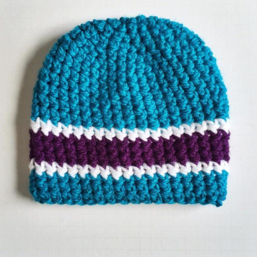 Crochet Mens Striped Hat