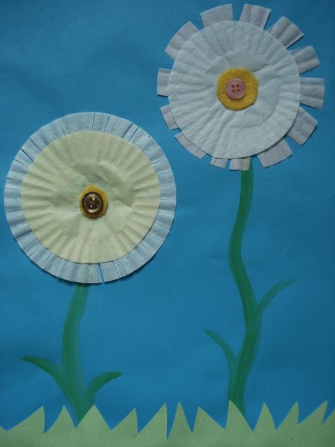 Preschool Cupcake Liner Flowers