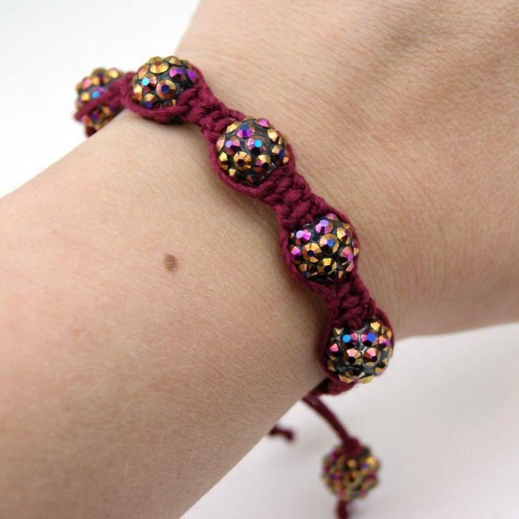 DIY Shambala Hemp Bracelet