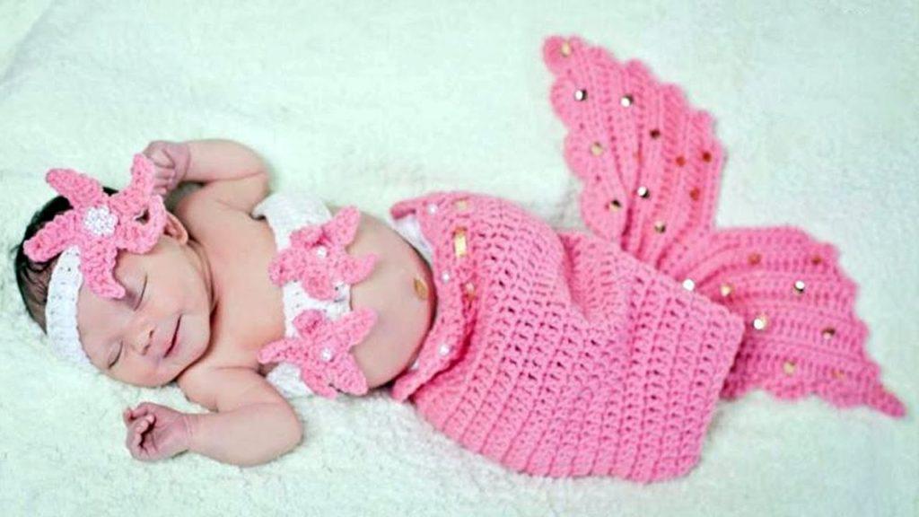 Mermaid Tail Crochet Pattern For Newborn Baby