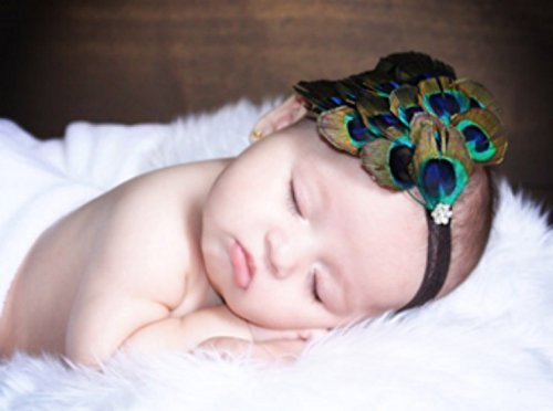 Peacock Feather Headband for Baby