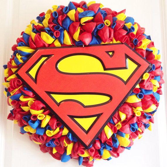 Superhero Balloon Wreath Idea
