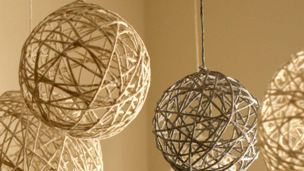 Twine Yarn Ball Lanterns