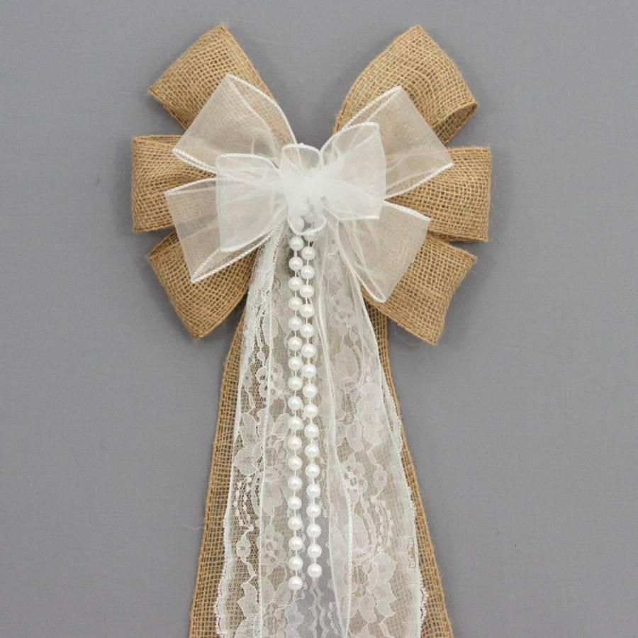 Burlap Wedding Bow