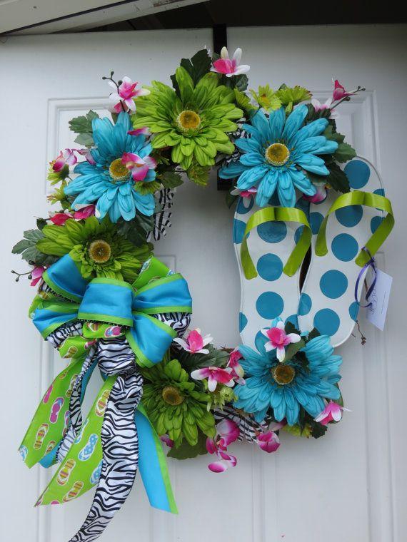 Floral Flip Flop Wreath