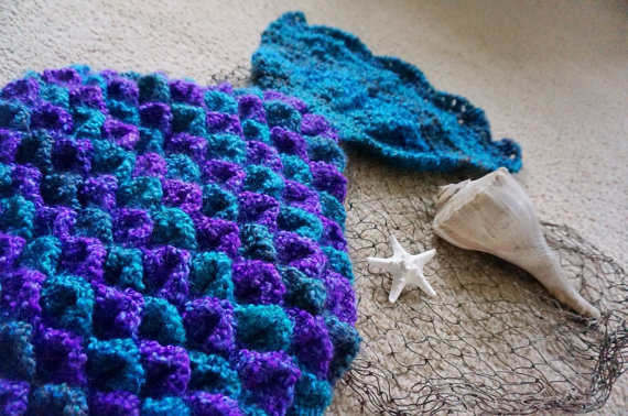 Crochet Crocodile Stitch Mermaid Tail Pattern