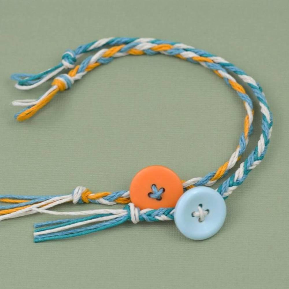 Hemp Bracelets with Buttons