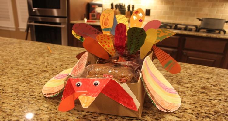 Paper Bag for a Turkey Bread Basket