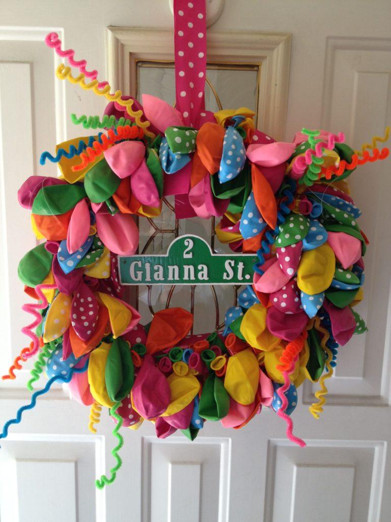 Sesame Street Balloon Door Wreath