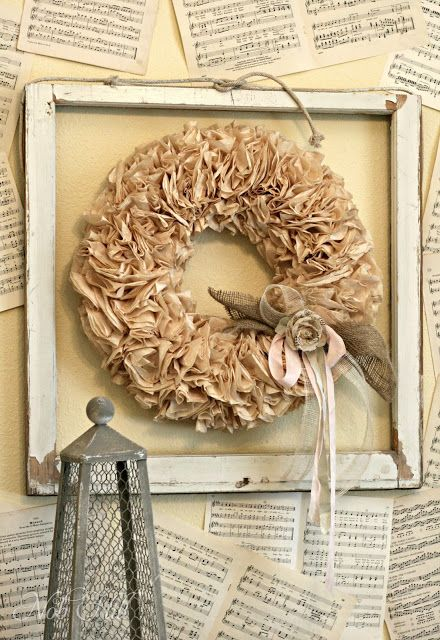 Small Coffee Filter Wreath