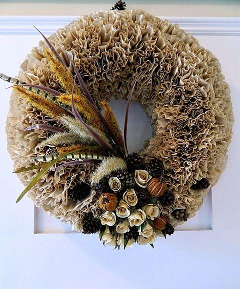 Foam Coffee Filter Wreath