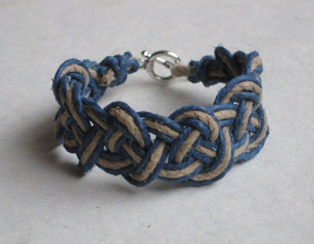 Hemp Bracelet with Celtic Knots