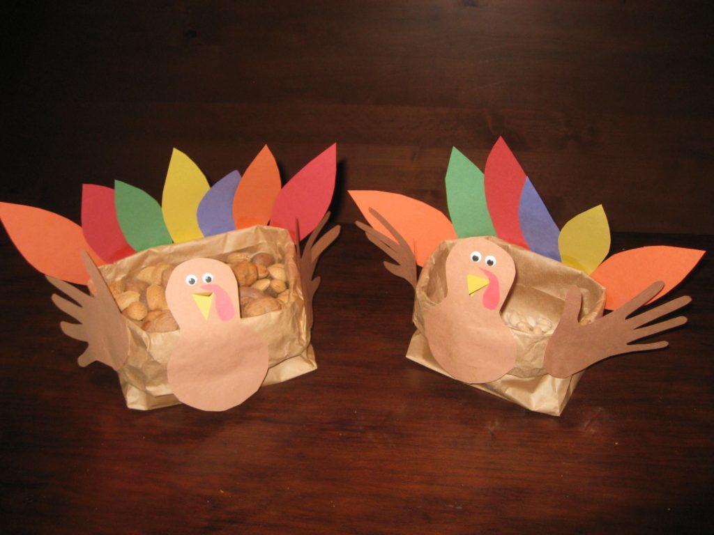Paper Bag Turkey Bread Basket