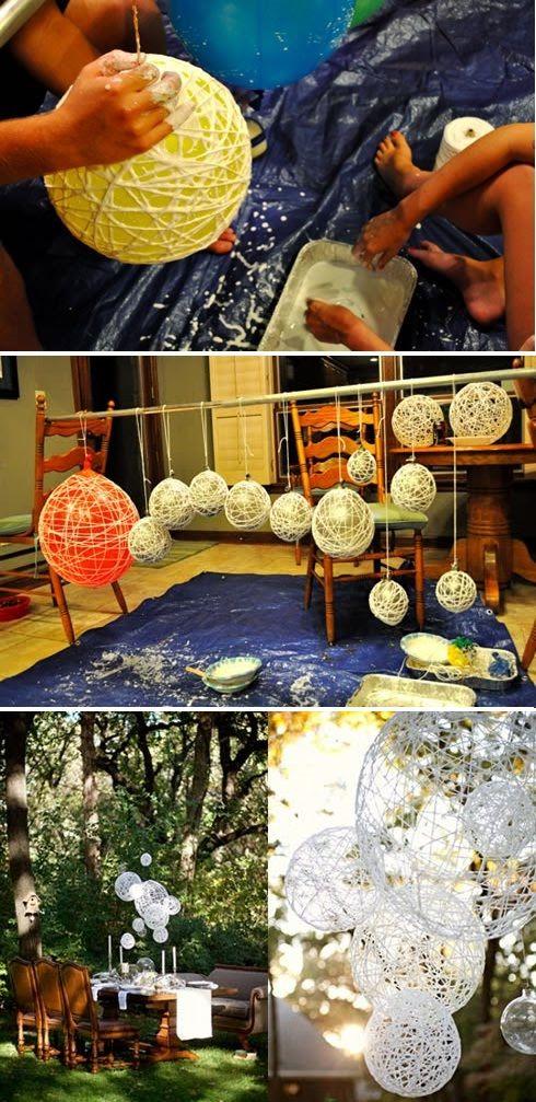 String Wedding Lantern Yarn Chandeliers