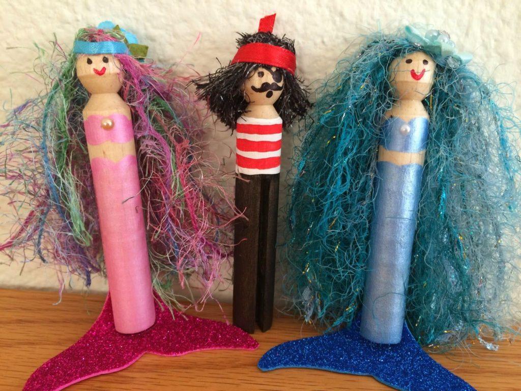 Clothespin Mermaid Doll Designs