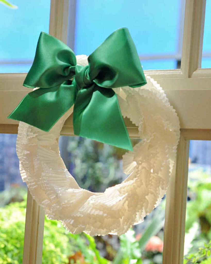 Coffee Filter Wreath Project
