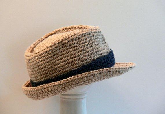Crochet Bucket  Hat Pattern - Mens Fedora