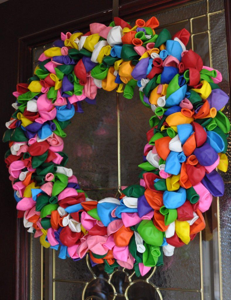 Deflated Balloon Wreath