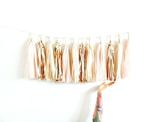 Gold Tinsel Tassel Garland
