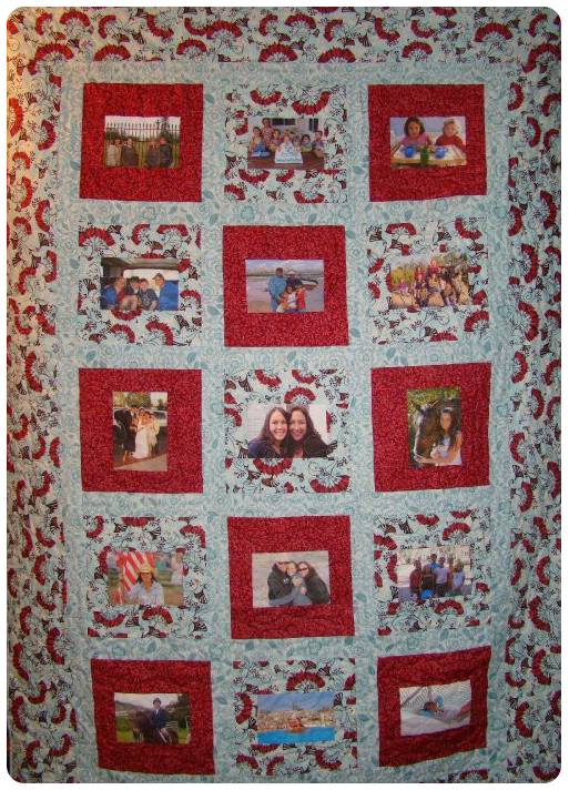 Quilt Made with Photos