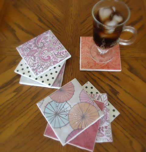 Homemade Tile Coasters