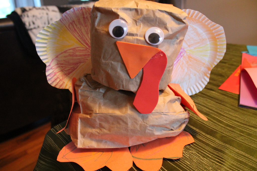 Paper Bag Turkey Craft and Rice