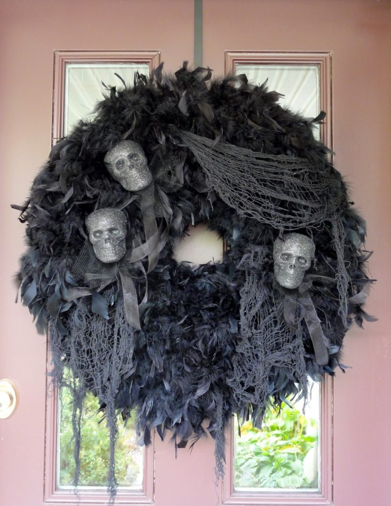 Scary Tulle Wreath