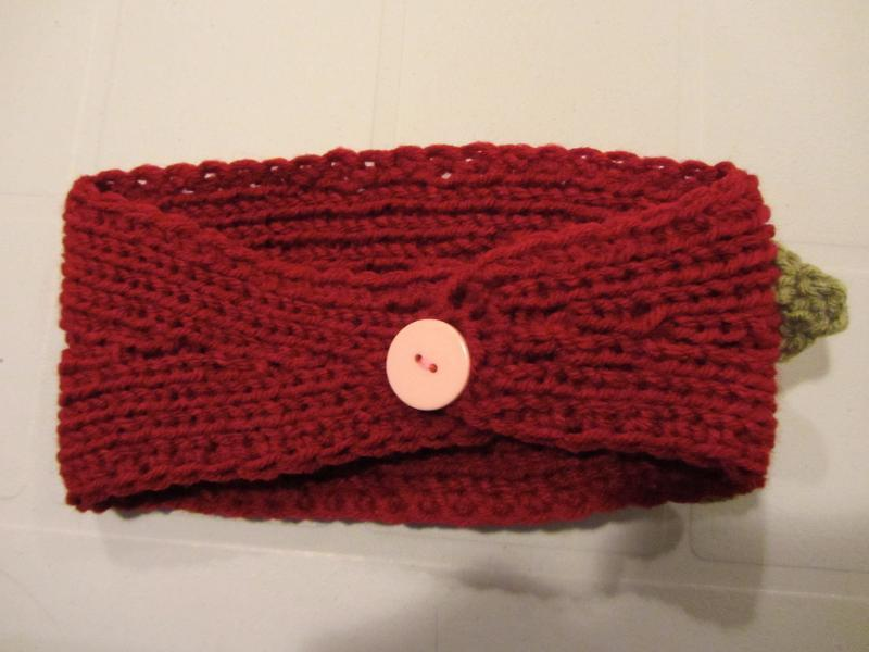 Knitted Headband Pattern with Button Closure
