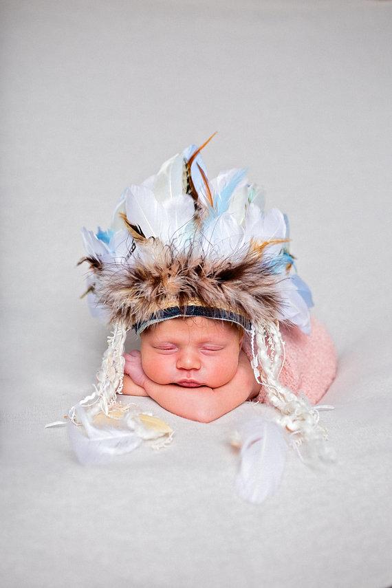 Newborn Feather Headband