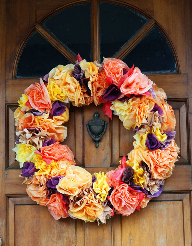 Thanksgiving Coffee Filter Wreath