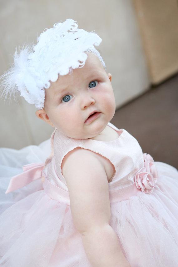 Baby Girl's Feather Headband