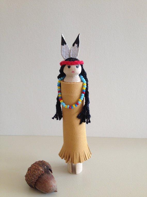 Native American Clothespin Dolls Idea