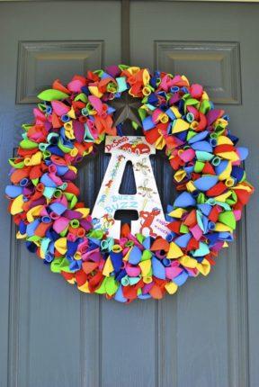Rainbow Water Balloon Wreath