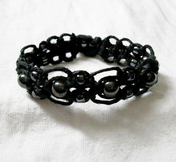 Thick Hemp Bracelets with Tibetan Beads