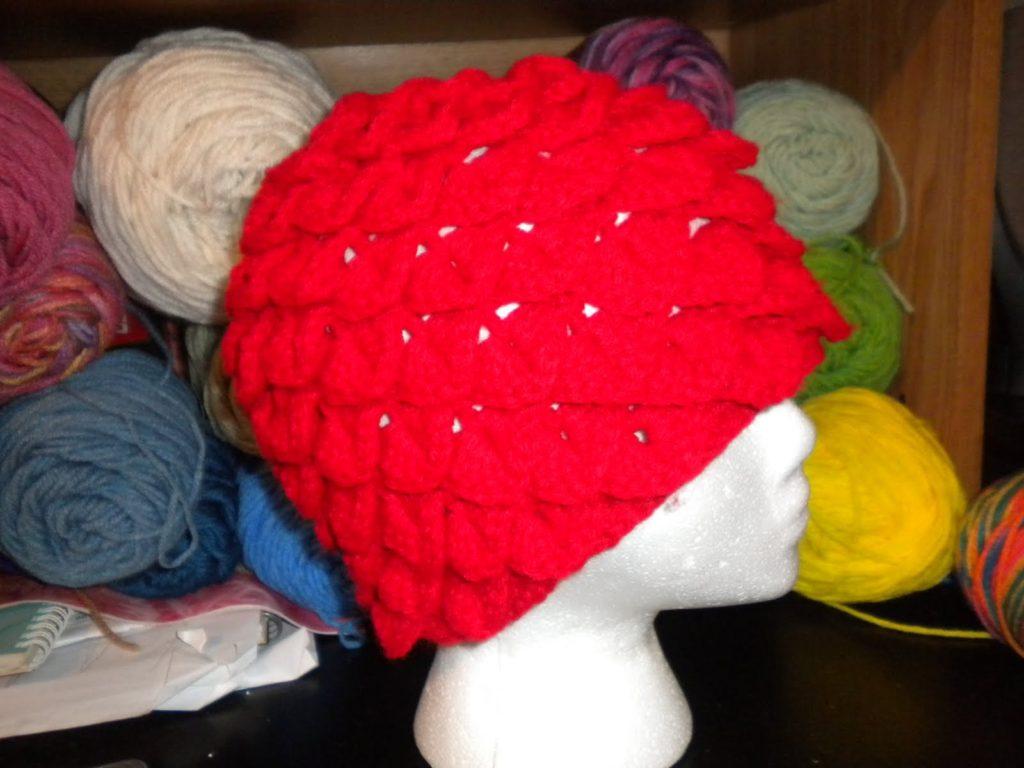 Crochet Mens Hat Alligator Stitch
