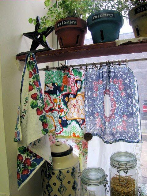 Patchwork Café Curtains
