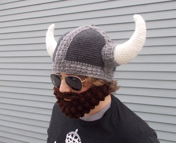 Mens Crochet Viking Hat Pattern