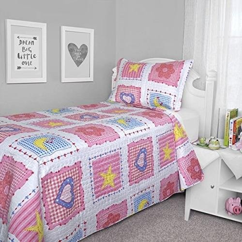 Pretty Pink Patchwork Quilt for Girls